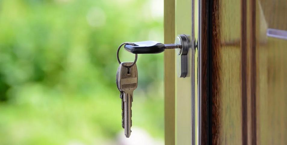 key in a door